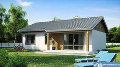 Proiecte de case mici pe un singur nivel - trei dormitoare sub acest acoperis