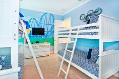 Shared Mickey Mouse Bedroom for four.