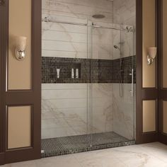 DreamLine Enigma-X 56-60x76-inch Fully Frameless Sliding Shower Door - Overstock™ Shopping - Big Discounts on DreamLine Shower Doors