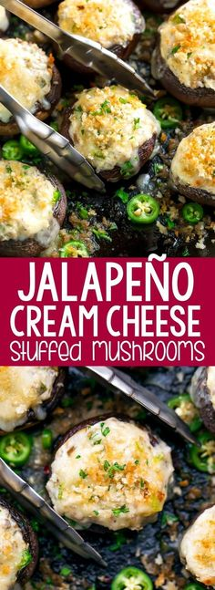 Cream Cheese Stuffed Mushrooms Jalapeño Cream Cheese Stuffed Mushrooms are the ultimate party appetizer!Jalapeño Cream Cheese Stuffed Mushrooms are the ultimate party appetizer! Appetizer Dips, Healthy Appetizers, Appetizer Recipes, Appetizer Dessert, Chicken Appetizers, Cream Cheese Appetizers, Mushroom Appetizers, Appetizer Party, Party Recipes