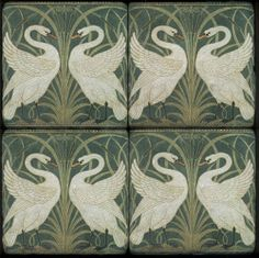 gold and cream fabric - Walter Crane Swan Rush and Iris Art And Craft Design, Art Deco Design, Raku Pottery, Upholstery Fabric Uk, Walter Crane, Art Nouveau Tiles, Arts And Crafts Movement, Wood Engraving, Design Elements