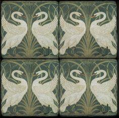 Swan pattern by Walter Crane