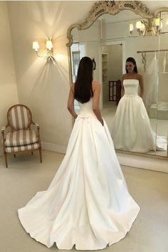 Cheap Bridal Dresses, Fall Wedding Dresses, Princess Wedding Dresses, Elegant Wedding Dress, Bridal Gowns, Wedding Gowns, Wedding Day, Wedding Dress With Pockets, One Shoulder Wedding Dress