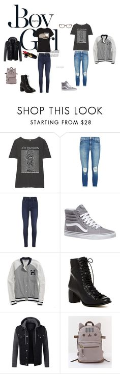 """""""Boy meets girl!"""" by bandgirl1013 ❤ liked on Polyvore featuring Boy Meets Girl, Pusheen, R13, J Brand, Paige Denim, Vans, Tommy Hilfiger, Chanel, Jeffrey Campbell and Tom Ford"""