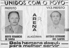 Folheto de propaganda eleitoral do partido do governo durante a ditadura militar