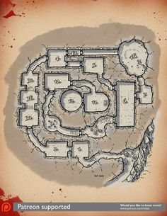 [Map] The Dungeon of Trials — Miska's Maps RPG Cartography Fantasy Map, Medieval Fantasy, Fantasy Places, Vintage Maps, Antique Maps, Dark Sun, Dnd World Map, Girl 3d, Map Layout
