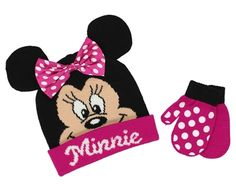 Minnie Mouse Toddler Beanie Hat and Mittens Set 9a0b97dd78b6