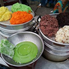 A colourful variety of sticky rice. Ho Chi Minh City, Vietnam, Asia, Rice, Culture, Eat, Travel, Food, Gourmet