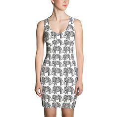 Henna Elephant Cut & Sew Dress