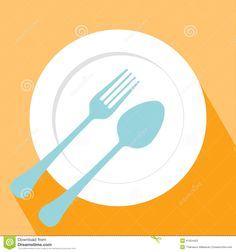 Plate Spoon And Fork Icon Stock Vector - Image: 41054452