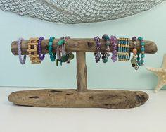 Porte bijoux bois flotté support de Bracelet bijoux de | Présentoirs ...
