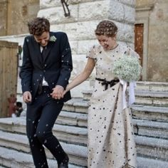 Polka dot wedding dresses are sweet and unexpected; perfect for any unique bride! View our style inspiration. Photo via Bayly+ Moore.