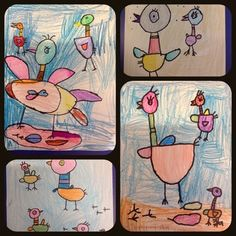 My youngest artists, grades K, 1, and 2, have been starting out with the basics - elements and...