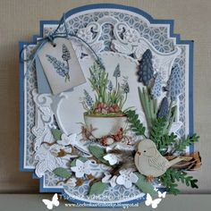 This would be lovely using the HFC dies and the Poppy Stamps tea cups Marianne Design Cards, Shaped Cards, Fancy Fold Cards, 3d Cards, Animal Cards, Heartfelt Creations, Cards For Friends, Winter Cards, Sympathy Cards