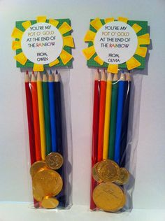 St Patrick's Day colored pencil party favor and treat by kahloluvr, $3.50