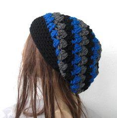 Boho Hat Boho Beanie Womens hat Girlfriend Gift by Ebruk Crochet Beanie Hat, Slouch Beanie, Beanie Hats, Crochet Hats, Cute Beanies, Cute Hats, Fasion, Women's Fashion, Hair Tuck