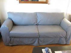 Scribbles from Emily: How to Make A Couch Slipcover From Sheets