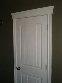 update builder grade door trim with molding.