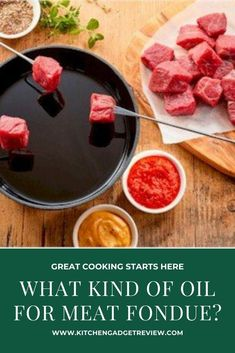 Check out the top picks for oils for meat fondue. Get your oil fondue on in style with these oil options that have a neutral flavour combined with high smoke point. #fondue #fondues #oil #oils #cooking #home #food #delicious #recipe #foodie #christmas #party