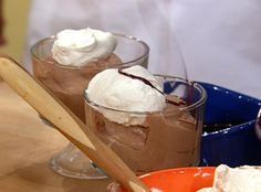 Buddy Valastro's Chocolate Mousse (The Cake Boss)    Ingredients  2 cups heavy cream  2 tablespoons sugar  1/2 cup Hershey's syrup in the can  1 tablespoon sifted cocoa powder  Splash of crème de cocoa