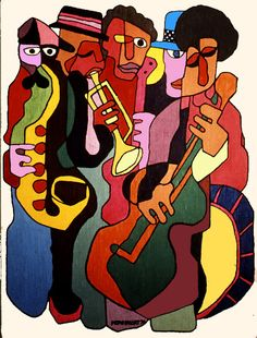 Jazz/fun inspiration for sketch.music style of students choice Jazz Club, Musik Illustration, Jazz Poster, Jazz Art, Action Painting, Music Artwork, Smooth Jazz, Music Images, Jazz Musicians