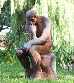 Large thinker statue for outdoors. Designed for outdoor weather year round. This classical thinker statue is perfect for your garden or special place in the backyard. Dancing Duck, Rodin The Thinker, Outdoor Garden Statues, Gnome Statues, Garden Decor Items, Lawn Ornaments, Cat Statue, Lanterns Decor, Labrador Retriever Dog