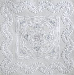 Most of my wholecloth quilts also use trapunto. If you don't trapunto your designs they can end up looking a little flat, but if you do use trapunto your quilts will really pop! Credit: Wholecloth and Patience ~ Design and quilting by Karen McTavish.
