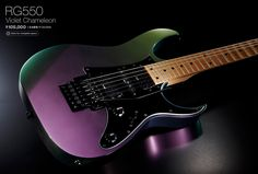 FYI, Ishibashi has a Violet Chameleon if anyone's interested Purple Guitar, Types Of Guitar, Guitar Pins, Cool Electric Guitars, Beautiful Guitars, Cool Guitar, Music Stuff, Acoustic Guitar, Vinyl Cover