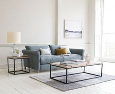 Weekender sofa in our Meteor Grey clever linen