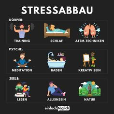 9 Wege um Stress abzubauen What is your favorite thing to do to relieve stress? School Motivation, Study Motivation, Fitness Motivation Quotes, Ways To Relieve Stress, German Language Learning, Never Stop Learning, Mind Tricks, Anti Stress, Better Life