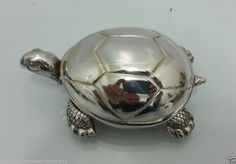 "Reed Barton ""Tortoise"" Musical Keepsake 3 5"" Music Box Silverplate | eBay - US $39,99"