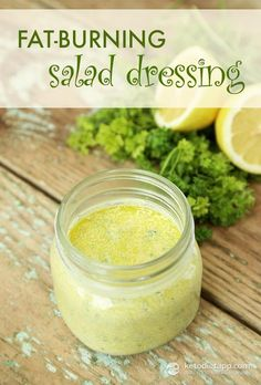 Fat-burning Salad Dressing (keto, paleo, low-carb, vegetarian)