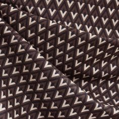 Jersey Knit Diamond Geometric Black/Brown - Fabric - Style Maker Fabrics
