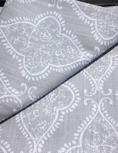 "Tahari Gray White Grey Damask Medallions Window Panels Drapes Set of 2 52 by 96"" #Tahari #Contemporary"
