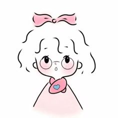 Cool Art Drawings, Kawaii Drawings, Colorful Drawings, Easy Drawings, Cute Cartoon Characters, Cartoon Art Styles, Cute Sketches, Cartoon Sketches, Cute Girl Drawing