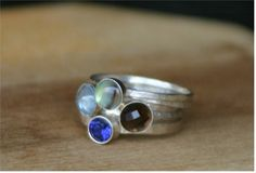Jewellery makes me happy, I love these stackable rings.