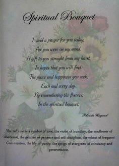 1000+ images about Spiritual bouquet ideas on Pinterest | Spiritual ...