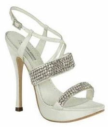 White Benjamin Adams Mimi Bridal Shoes