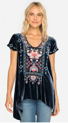 Johnny Was Nindi Velvet Drape Top https://cowgirlkim.com/collections/whats-new/products/johnny-was-nindi-velvet-drape-top