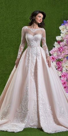 24 Lace Ball Gown Wedding Dresses You Love ❤ lace ball gown wedding dresses with long sleeves sweetheart sexy amelia sposa ❤ Full gallery: https://weddingdressesguide.com/lace-ball-gown-wedding-dresses/