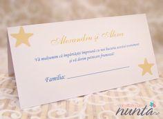Plic de bani Del Mar cu stelute de mare, perfect pentru o nunta cu tematica marina.