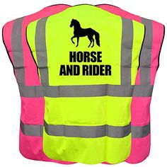 Shop for Equestrian Pink Hi Vis Viz Vest Please Slow Down Reflective Safety Waistcoat Medium. Starting from Choose from the 2 best options & compare live & historic outerwear prices. Equestrian, Safety, Vest, Horses, 30th, December, Stuff To Buy, Mood, Shopping