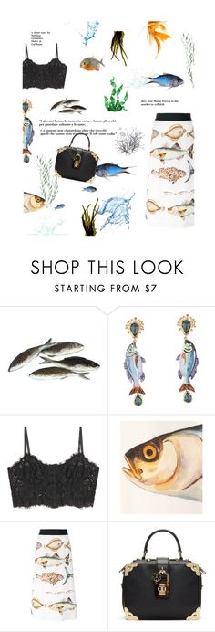 """""""Fishes"""" by stellina-from-the-italian-glam ❤ liked on Polyvore featuring Dolce&Gabbana, dolcegabbana and mariateresa"""