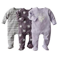Lote de 3 pijamas com pés Pequenos Preços | La Redoute