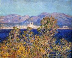 Antibes Seen from the Cape, Mistral Wind - Claude Monet