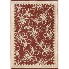 Fountain Swirl Rug in Red
