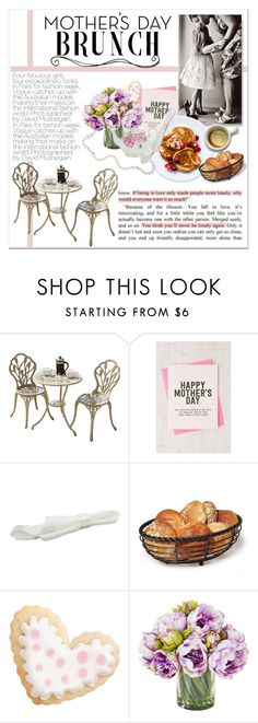 """""""Mother's Day Brunch"""" by lalalaballa22 ❤ liked on Polyvore featuring interior, interiors, interior design, home, home decor, interior decorating, Mikasa, Wilton, Royal Albert and MothersDayBrunch"""