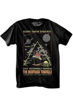 Men's Bermuda Triangle T-Shirt #rebelcircus #rebel #goth #gothic #punk #punkrock #rockabilly #psychobilly #pinup #inked #alternative #alternativefashion #fashion #altstyle #altfashion #clothing #clothes #style