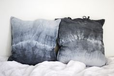 Popular Now gradations of gray and blue in the painting of decorative pillows.