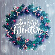 49477390-Hello-winter-lettering-Christmas-decoration-wreath-vector-illustration--Stock-Vector.jpg (1299×1300)